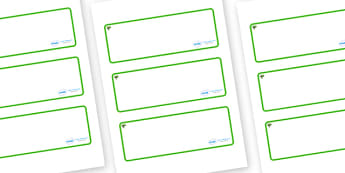 Elder Tree Themed Editable Drawer-Peg-Name Labels (Blank) - Themed Classroom Label Templates, Resource Labels, Name Labels, Editable Labels, Drawer Labels, Coat Peg Labels, Peg Label, KS1 Labels, Foundation Labels, Foundation Stage Labels, Teaching L