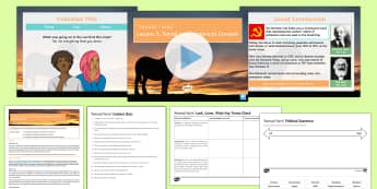 Animal Farm Lesson 3: Social and Historical Context - Animal Farm, social, historical, context, quiz, Orwell, world, war, two, second, Hitler, stalin