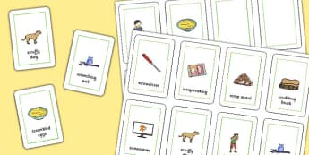 Three Syllable SCR Playing Cards - speech sounds, phonology, articulation, speech therapy, cluster reduction, complex clusters, three element clusters