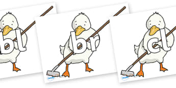 Initial Letter Blends on Farmer Duck With Hoe - Initial Letters, initial letter, letter blend, letter blends, consonant, consonants, digraph, trigraph, literacy, alphabet, letters, foundation stage literacy