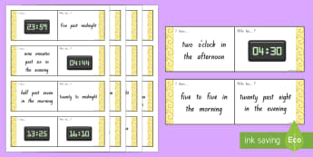 24 Hour Times Loop Cards - Maths, TIme, 24 Hour Clock, Measurement