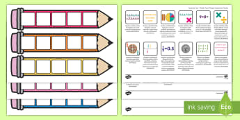 Year 4 Maths Pencil Targets Assessment Tracker - australia, maths, planning and assessment, number and algebra, geometry and measurement, statistics
