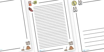 One Two Buckle My Shoe Page Borders - One, Two, Buckle My Shoe, Literacy, writing, page border, a4 border, template, writing aid, writing border, page template, nursery rhyme, rhyme, rhyming, nursery rhyme story, nursery rhymes, counting rhymes, 1,2,