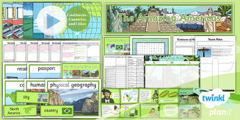 PlanIt - Geography Year 6 - The Amazing Americas Unit Pack - planit, geography, North America, South America, physical, human