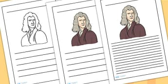 Isaac Newton Writing Frames - isaac newton, writing frames, writing aids, writing guide, line guide, writing, literacy, writing template, template, frames