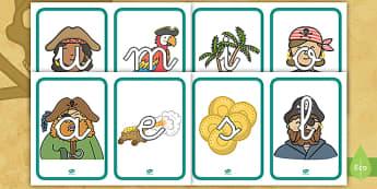 Tarjetas de fonemas: Los piratas - Los piratas, proyecto, transcurricular, el mar, barcos, lecto, leer, lectura,,Spanish