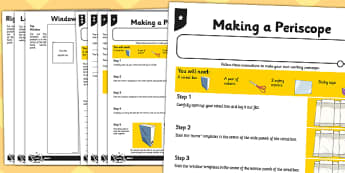 Activity Sheet Periscope - activity, sheet, periscope, science, worksheet