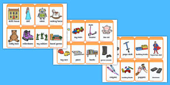 Toy Flashcards - toys, flash cards, word cards, visual aids, card