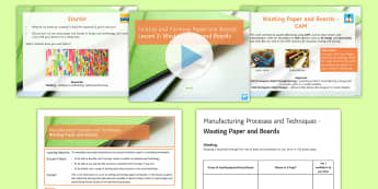 Manufacturing Processes and Techniques - Joining and Forming Paper and Boards L2: Wasting - Key Stage 4 Design & technologydesign processGCSE design & technologydesign projectiterative designp