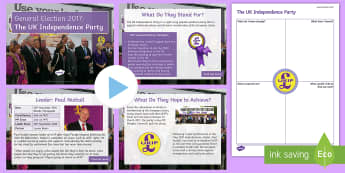 The UK Independence Party Information PowerPoint Pack - Paul Nuttall, manifesto, history, politics, vote, prime minister, member of parliament