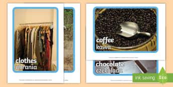 Fairtrade Display Photos Polish/English - Fairtrade Display Photos - fairtrade, photos, photograph, display,EAL,Polish-translation