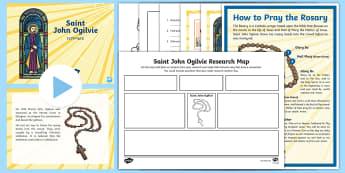 Saint John Ogilvie Resource Pack  - Saints, Scotland, Catholic, Catholicism, Christianity, Scottish, faith, prayer