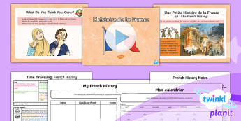 French: Time Travelling: French History Year 5 Lesson Pack 3