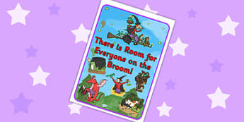 There is Room for Everyone on the Broom Poster to Support Teaching on Room on the Broom - room on the broom, poster, story poster, stories, themed poster, display poster, display