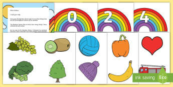 The Rainbow Mix-Up Counting Activity Resource Pack - mathematics, number, counting, quantity, number names, match, numeral, fairy, rainbow, sorting.