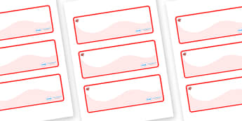 Ruby Themed Editable Drawer-Peg-Name Labels (Colourful) - Themed Classroom Label Templates, Resource Labels, Name Labels, Editable Labels, Drawer Labels, Coat Peg Labels, Peg Label, KS1 Labels, Foundation Labels, Foundation Stage Labels, Teaching Lab