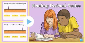 Reading Decimal Scales PowerPoint - CfE Numeracy and Mathematics, number, second level, cfe, powerpoint, decimal numbers, reading a scal