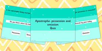 Identifying Whether an Apostrophe is Being Used SPaG PowerPoint