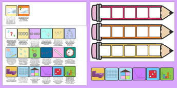Australia Year 3 Maths Pencil Targets Assessment Tracker - Maths, Moving,Australia, numeracy, record, targets, objectives,pencil,year 3,