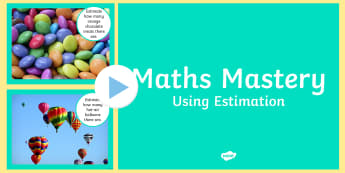 Math Estimation PowerPoint - year 2, estimation, number and algebra, guessing.,Australia