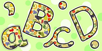 Fruit Themed A4 Display Lettering - fruit, a4, display, lettering
