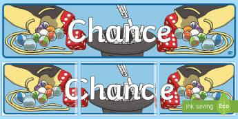 Chance Display Banner-Australia - Australian Curriculum Mathematics Display Banners, chance, statistics, probability, Australian curri