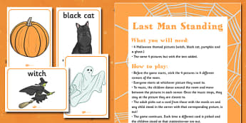 Last Man Standing Halloween Party and Resource Pack - activity, fun and games, KS2