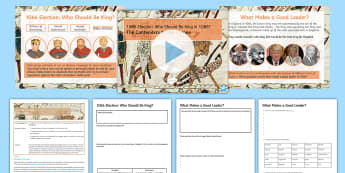 1066 Election: Who Should Be King? Lesson Pack - norman conquest, bayeux tapestry, medieval realms, contenders to throne, william of normandy, harold