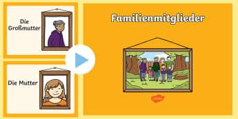 Familienmitglieder PowerPoint - Familienmitglieder, Familie, Meine Familie, Familie PowerPoint, Familienmitglieder PowerPoint, Famil