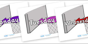 Days of the Week on Basketball Hoops - Days of the Week, Weeks poster, week, display, poster, frieze, Days, Day, Monday, Tuesday, Wednesday, Thursday, Friday, Saturday, Sunday