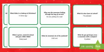 Christmas Lunchbox Jokes - Christmas, Nativity, Jesus, xmas, Xmas, Father Christmas, Santa, St Nic, Saint Nicholas, traditions