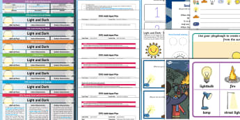 EYFS Light and Dark Lesson Plan Enhancement Ideas and Resources Pack - Early Years, early years planning, continuous provision, adult led, science, understanding the world, light, dark, night, day, time, nocturnal animals