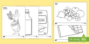 Fairtrade Colouring Pages English/Portuguese - Fairtrade Colouring Sheets - fairtrade, colouring, colour, sheets, colering, colourng, couloring