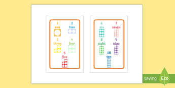Number Shapes 1 to 10 Prompt IKEA Tolsby Frame -  Number Shapes 1 to 10 Prompt IKEA Tolsby Frame - numicon, number shap, shapes, number shape, tolsby