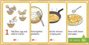 Pancake Recipe Cards - Pancake day, recipe, pancake, shrove Tuesday, pancakes, recipe card, making pancakes, display poster, recipe information