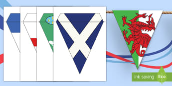 Six Nations Flags Display Bunting - rugby, six nations, italy, ireland, england, france, wales, scotland, calcutta cup