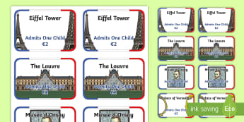 Paris Tourist Attraction Tickets - paris, tourist attracton, tickets, paris tickets, role play ticket, tourist attraction tickets, paris tourist attraction