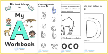 My Alphabet Workbook Pack (uppercase) - workbook, A-Z, alphabet, letters, my workbook, sounds, uppercase