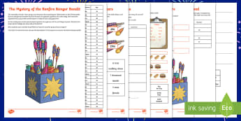 LKS2 The Mystery of the Bonfire Banger Bandit Maths Game - bonfire night, maths skills, calculations, equations, problem solving