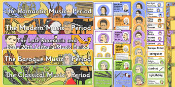 Musical Periods Display Pack - musical periods, display pack