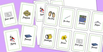 Two Syllable FL Playing Cards - sen, sound, special educational needs, fl, playing cards