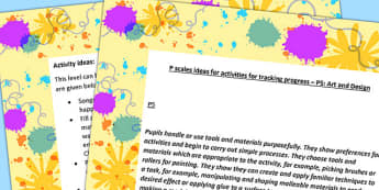 P Scales Idea for Activities for Tracking Progress Art and Design