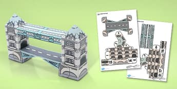 Tower Bridge Paper Model - tower bridge, paper, model, craft
