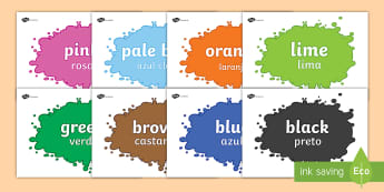 Colour Display Posters English/Portuguese - Colour Display Posters - colour, display, poster, topic, images, eal