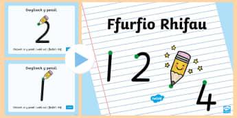 Pŵerbwynt Ffurfio Rhifau - rhifo, rhifau, ffurfio, ffurfio rhifau, cyfnod sylfaen, rhifau meithrin, ysgrifennu rhifau, rhifedd,
