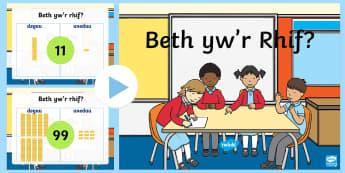 Pŵerbwynt Gwerth Lle Taflenni Gweithgaredd  - Pŵerbwynt, Gwerth Lle, Rhif, Rhifedd, Mathemateg, Degau, Unedau, Place Value, Powerpoint, Tens, uni