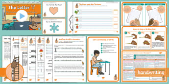 The Journey to Continuous Cursive: The Letter 'l' (Ladder Family Help Card 1) KS1 Activity Pack - Nelson handwriting, penpals, fluent, joined, legible, handwriting