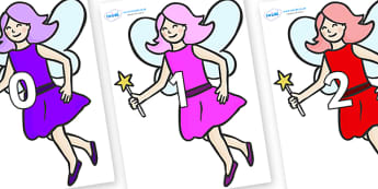 Numbers 0-100 on Fairies - 0-100, foundation stage numeracy, Number recognition, Number flashcards, counting, number frieze, Display numbers, number posters