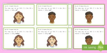 Show Don't Tell Independent Working Cards - writing, descriptive writing, new zealand, literacy, show don't tell