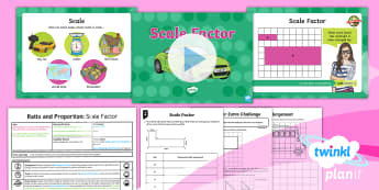 Y6 PlanIt Ratio and Proportion Lesson Pack Scale Factor and Enlargement (1) - Ratio and Proportion